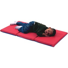 CFI 400524RB Children's Fact. 3-Fold Infectn Control Rest Mats CFI400524RB
