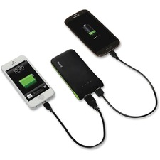 Esselte Mobile Power Bank - For USB Device, Smartphone, Tablet PC - 5000 mAh - 2 x - Black