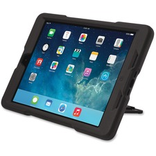 Kensington BlackBelt 2nd Degree Rugged Case for iPad Air - Black - For Apple iPad Air Tablet - Black - Rubberized - Bump Resistant, Drop Resistant, Scratch Resistant - Rubber, Polycarbonate