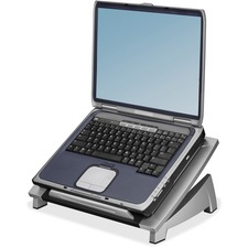 "Fellowes Office Suitesâ""¢ Laptop Riser - Up to 17"" Screen Support - 4.54 kg Load Capacity - 6.50"" (165.10 mm) Height x 15.06"" (382.52 mm) Width x 10.50"" (266.70 mm) Depth - Desktop - High Performance Steel (HPS) - Black, Silver"