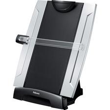 "Office Suitesâ""¢ Desktop Copyholder with Memo Board - 15"" (381 mm) Height x 10.25"" (260.35 mm) Width x 6"" (152.40 mm) Depth - Black, Silver"
