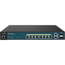 EnGenius Neutron Series 8-Port Gigabit PoE+ Wireless Management Switch with Uplink Ports