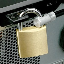 Compulocks Computer Cable Lock Kit, With Heavy Duty Brass Padlock