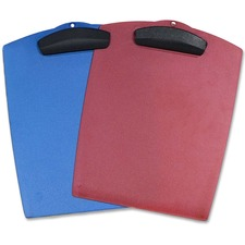"""Storex Clip 'N Carry Clipboards - 9 3/4"""" x 12 3/4"""" - Plastic - Assorted - 1 Each"""