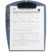 """Storex Deluxe Poly Clipboard - 8 1/2"""" x 11"""" - Clamp - Polypropylene - Pearl Blue - 1 Each"""