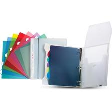"Storex Round Ring Presentation/Organizer Binder - 1"" Binder Capacity - Letter - 8 1/2"" x 11"" Sheet Size - 200 Sheet Capacity - 1/5 Tab Cut - Poly - White - 1 Each"