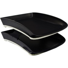 Storex Iceland Stacking Letter Tray - Stackable - 90 - Rubber - 1 Each