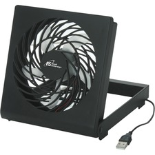 "Royal Sovereign 4"" USB Fan - 101.6 mm Diameter - Foldable, Quiet, Safety Grill - 6.75"" (171.45 mm) Height x 1.62"" (41.15 mm) Width - Black"