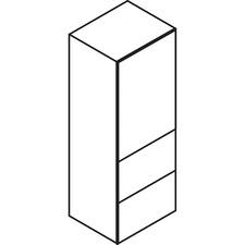 LAS72D202465FBX - Lacasse Storage Unit with Lateral File - 2-Drawer