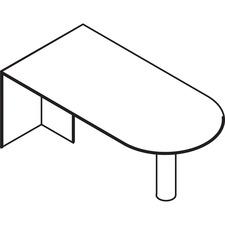LAS72BT3672H - Lacasse D-shaped Work Table
