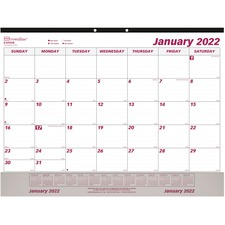 RED C1731V Rediform Vinyl Strip Monthly Desk Pad REDC1731V