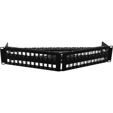 AddOn 19-Inch Cat6A 48 Port Angled 180 Degree Keystone Type 2U Patch Panel