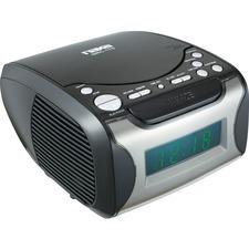 Naxa NRC-175 Desktop Clock Radio - 2.40 W RMS - Stereo