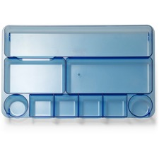 OIC 23216 Officemate Blue Glacier 9-comprtmt Drawer Tray OIC23216