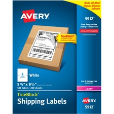 AVE5912 - Avery® Shipping Labels with TrueBlock Technology