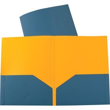 """C-Line Letter Portfolio - 8 1/2"""" x 11"""" - 2 Inside Front Pocket(s) - Poly - Blue"""