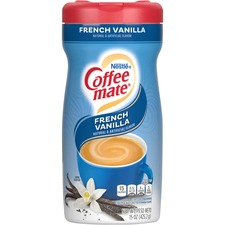 Coffee mate Powdered Coffee Creamer, Gluten-Free - French Vanilla Flavor - 0.94 lb (15 oz) Canister - 1Each - 141 Serving