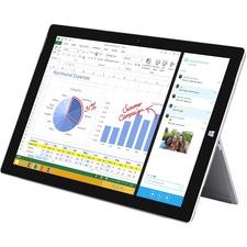 "Microsoft Surface Pro 3 Tablet - 12"" - 8 GB LPDDR3 - Intel Core i7 (4th Gen) i7-4650U Dual-core (2 Core) 1.70 GHz - 256 GB SSD - Windows 8.1 Pro - 2160 x 1440 - ClearType - Silver"