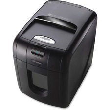 Swingline Stack-and-Shred 130M Paper Shredder - Micro Cut - 130 Per Pass - for shredding Paper, Paper Clip, Staples, Credit Card - Black