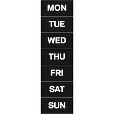 BVC FM1007 Bi-silque Magnetic Weekday Calendar Characters BVCFM1007