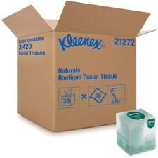 KCC 21272CT Kimberly-Clark Kleenex Naturals Facial Tissue KCC21272CT