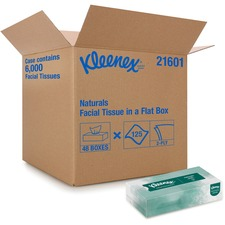 KCC 21601CT Kimberly-Clark Kleenex Naturals Facial Tissue KCC21601CT