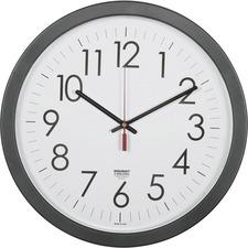 """SKILCRAFT 14.5"""" Round Workstation Wall Clock"""