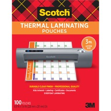 MMM TP3854100 3M Scotch Thermal Laminating Pouches MMMTP3854100