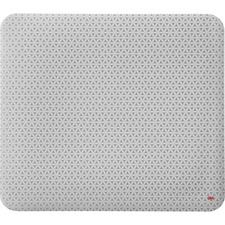 "3M Precise Nonskid Reposition Bitmap Mouse Pad - Gray Bitmap - 8"" (203.20 mm) Dimension - Foam"