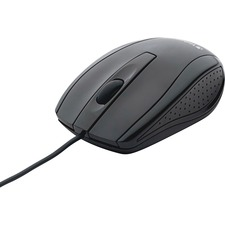 Verbatim Bravo Wired Notebook Optical Mouse - Optical - Cable - Glossy Black - USB 2.0 - Notebook, Computer - Scroll Wheel - Symmetrical