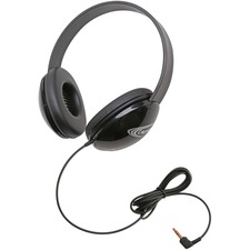 Califone Listening First Childrens Lightweight Stereo Headphones Black