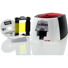 BDGB12U0000RS - Evolis Badgy100 Plastic ID Card Solution With ID Software For Tamper Proof Professional Custom ID's On Demand With Small Border Printing