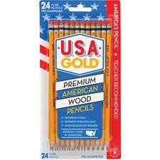 BDUDDR64 - The Write Dudes USA Gold Prem American Cedar Pencils