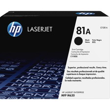 HP 81A (CF281A) Original Toner Cartridge - Single Pack - Laser - 10500 Pages - Black - 1 Each