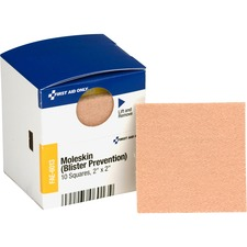 FAO FAE6013 First Aid Only Moleskin/Blister Prevention Squares FAOFAE6013