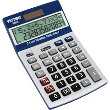 VCT 9800 Victor Easy Check Two-Line Calculator VCT9800