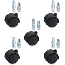 LLR 33446 Lorell Premium Dual Soft Wheel Casters Set LLR33446