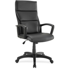 LLR84569 - Lorell Euro Design Leather Executive High-back Chair