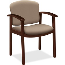 HON 2111NCU24 HON 2111 Single Rail Arm Mahogany Wood Guest Chair HON2111NCU24