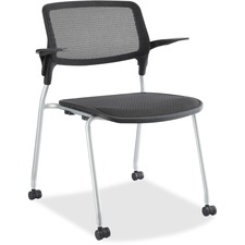 LLR 84574 Lorell Fixed Arms Stackable Guest Chairs LLR84574