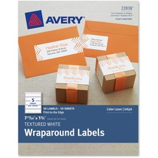 AVE 8217 Avery Textured Wrap Around Labels AVE8217