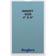 ANG 1444P50 ANGLER'S Self-stick Crystal Clear Poly Envelopes ANG1444P50