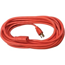 Compucessory Heavy-duty Indoor/Outdoor Extsn Cord - 125 V AC Voltage Rating - 13 A Current Rating - Orange