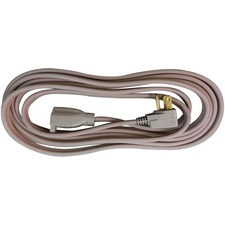 Compucessory Heavy Duty Indoor Extension Cord - 14 Gauge - 125 V AC / 15 A - Gray - 15 ft Cord Length - 1