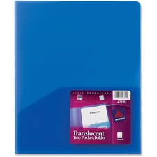 AVE 47811EA Avery 2-Pocket Translucent Poly Folders AVE47811EA