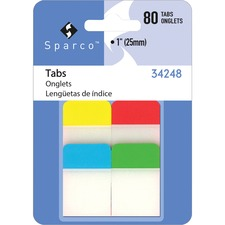"""SPR 34248 Sparco 1"""" Durable Tabs SPR34248"""