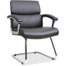 LLR20019 - Lorell Sled Base Leather Guest Chair