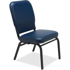LLR59595 - Lorell Vinyl Back/Seat Oversized Stack Chairs