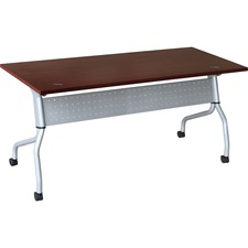 LLR60718 - Lorell Mahogany Flip Top Training Table