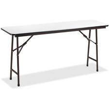LLR60726 - Lorell Gray Folding Banquet Table